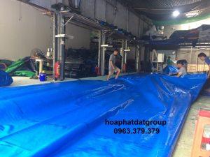 Báo giá cung cấp bạt che nắng may ép vải bạt mái che giá rẻ tại TP Vĩnh Yên