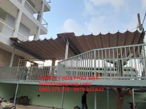 Báo giá lắp đặt mái hiên mái xếp bạt kéo di động tại huyện tân phú