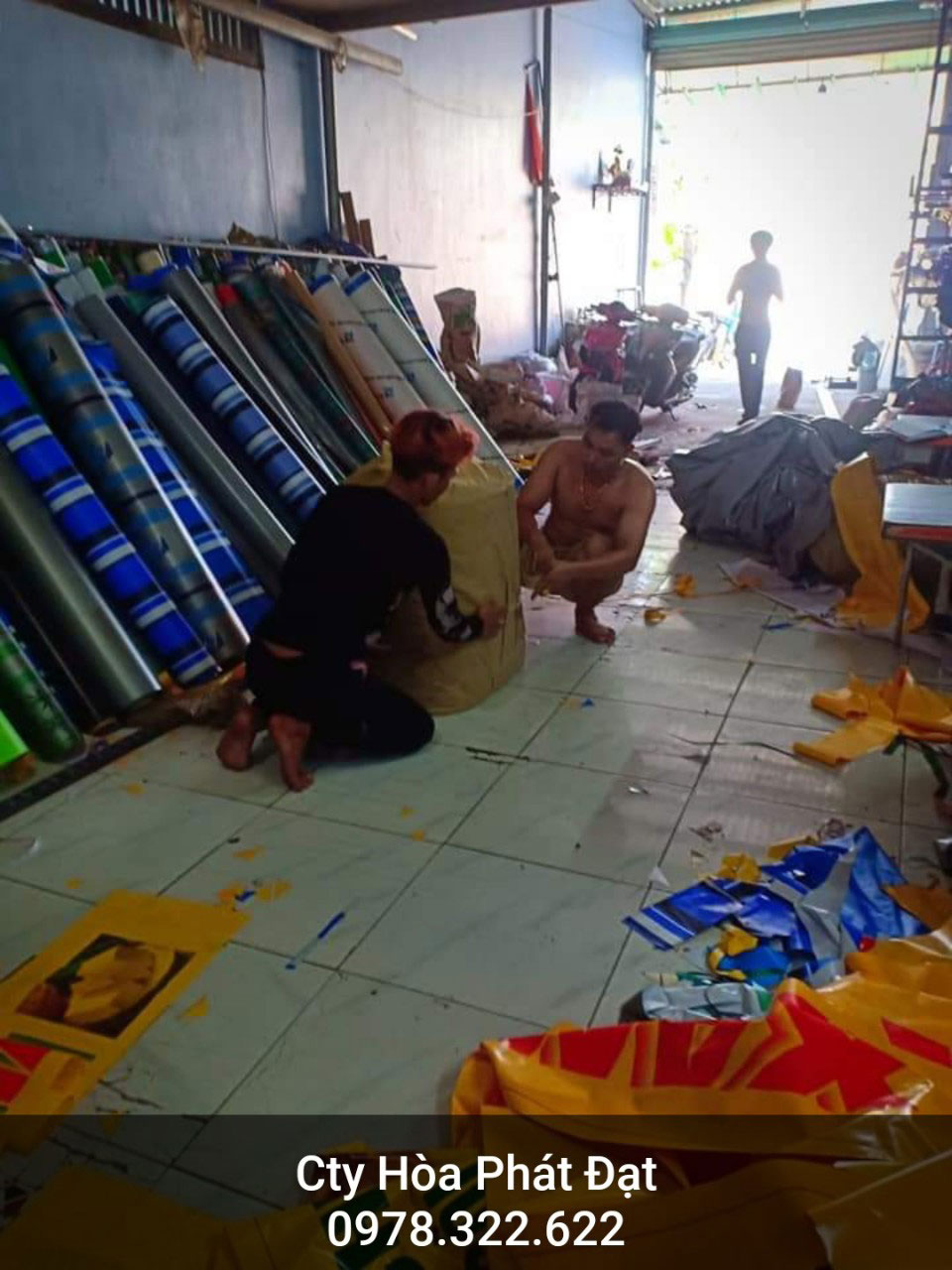 Báo giá cung cấp bạt che nắng may ép vải bạt mái che giá rẻ tại Long An