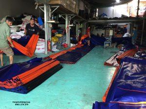 Báo giá cung cấp bạt che nắng may ép vải bạt mái che giá rẻ tại TP Hạ Long
