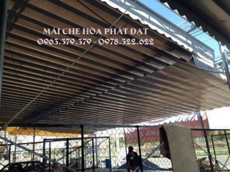 Mái che di động quán nhậu, thiết kế lắp đặt mái bạt xếp bạt kéo quán nhậu giá rẻ