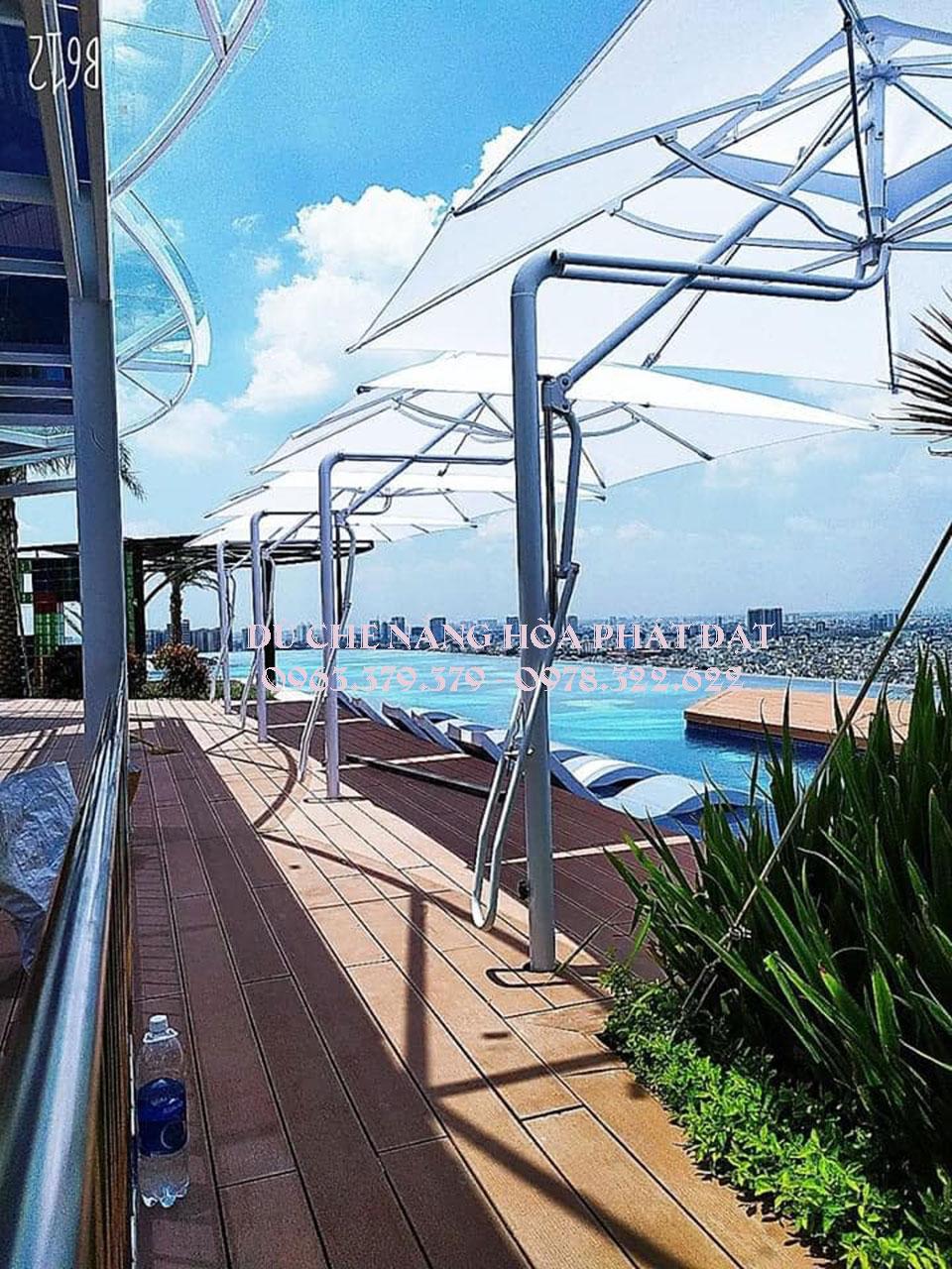 thiết-kế-dù-che-nắng-hồ-bơi