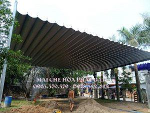 Mái che di động nhà kho(xưỡng), thiết kế lắp đặt mái bạt xếp bạt kéo kho(xưỡng) giá rẻ